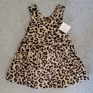 NWT Janie and Jack Leopard Dress Set sz 12-18month